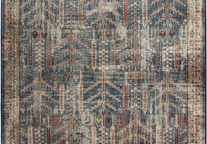 "Bohemian Rug Collection Ouman Blue thatch Amazon orian Meadow Safavid area Rug 7 10"" X 10 10"