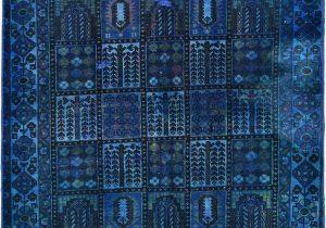 Bohemian Rug Collection Ouman Blue thatch Blue 4 11 X 6 3 Ultra Vintage Rug