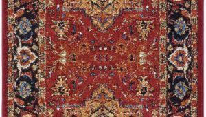 Brahim Red Black area Rug Brahim southwestern Red Black area Rug