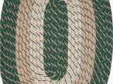 Braided area Rug 5 X 8 Constitution Rugs Plymouth 5 X 8 Braided Rug In Hunter Green
