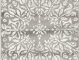 Brandt Gray area Rug by Mistana Brandt Floral Gray area Rug