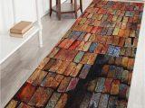 Brick Red Bathroom Rugs Colorful Brick Print Indoor Outdoor area Rug