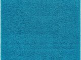 Bright Blue Shag Rug soft and Fluffy Non Slip Shag Rug solid Color Turquoise Blue area Rug