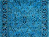 Bright Blue Shag Rug Vendimia Rugs Overdye Jaya Bright Blue Rug