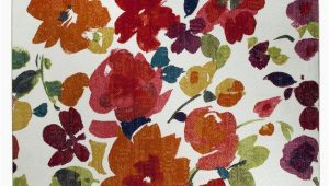 Bright Colored Floral area Rugs Barham Floral F White Red orange area Rug
