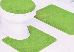 Bright Green Bath Rugs 3 Piece Quinn solid Bathroom Rug Set Bath Mat Contour