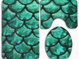 Bright Green Bath Rugs Pudmad Bright Green Scales 3 Piece Bathroom Rugs Set Bath