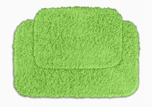 Bright Green Bath Rugs Shop somette Quincy Super Shaggy Lime Green 2 Piece Bath