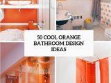 Bright orange Bath Rugs 50 Cool orange Bathroom Design Ideas Digsdigs
