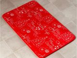Bright Red Bath Rugs Red Chalkboard Look Holiday Bath Collection