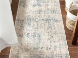 """Brown and Blue area Rug Walmart Sydney Tate Blue Modern Abstract Distressed 2 3"""" X 7 3"""" Runner area Rug"""