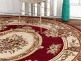 Brown and Blue area Rug Walmart Well Woven Timeless Le Petit Palais Traditional Medallion