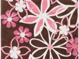 Brown and Pink area Rugs Kids Pink Brown area Rug Flowers Floral Bedroom Garden Decor