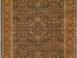 Brown and Rust area Rugs Milbridge oriental Hand Knotted Wool Brown Rust area Rug