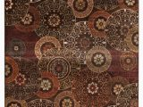 """Brown and Rust area Rugs Rectangle Abacasa sonoma Lundy area Rug Rust Brown Ivory 63""""x90"""""""