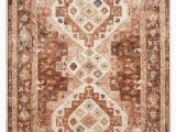 Brown and Rust Colored area Rugs Jamieson Medallion Rust Beige area Rug