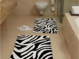 Brown and White Bathroom Rugs Animal Zebra Black and White Bath Rug All About Furniture