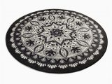 Brown and White Bathroom Rugs Black & White Red Blue Brown Mandala Round Home Decor Bathroom Rug soft Bath Mat Eco Friendly Gift for Her Diameter 40""
