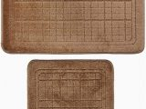 Brown Bath Rug Set Amazon 2 Pcs Bathroom Rug Mat Set Polyester soft