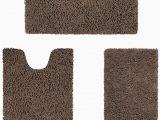 Brown Bath Rug Set Amazon Homeideas Value 3 Pieces Bathroom Rugs Set Grey