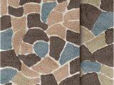 Brown Bath Rug Set Chesapeake Merchandising Boulder 2 Piece Bath Rug Set 21 by 34 Inch and 24 by 40 Inch Slate