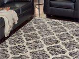 Brown Black and Gray area Rugs Kaila Black Cream Gray Medium Rug