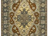 Brown Blue Tan area Rug Rizzy Home Valentino Vn 9451 Rugs