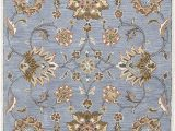 Brown Blue Tan area Rug Rizzy Home Valintino Collection Wool area Rug 8 X 10 Blue Brown Tan Blue Rust Lt Gray Floral