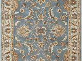 Brown Blue Tan area Rug Rizzy Home Volare Collection Wool area Rug 3 X 5 Blue Brown Tan Blue Lt Teal Lt Brown Border