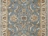 Brown Blue Tan area Rug Rizzy Home Volare Collection Wool area Rug 8 X 10 Blue Brown Tan Blue Lt Teal Lt Brown Border