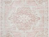 Bungalow Rose Fontanne Pink White area Rug Blithe oriental Pink White area Rug