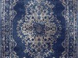 Burciaga Blue area Rug Dara Rugs 3931 Dark Blue oriental 5 X 7 area Rug Carpet