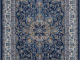 Burciaga Blue area Rug Using the Most Advanced Weaving Technology This Stunning