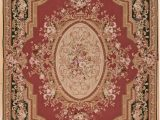 Burgundy and White area Rugs Aubusson oriental Handwoven Wool Burgundy area Rug