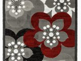 Burgundy and White area Rugs Newport Collection Gray Burgundy White Floral Modern area Rug Walmart