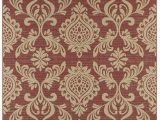 Burgundy and White area Rugs Nickols Classic Scroll Burgundy Indoor Outdoor area Rug
