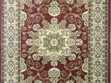 Burgundy and White area Rugs Staveley oriental Tufted Burgundy area Rug