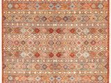 "Burnt orange 5×7 area Rug E Of A Kind Cercis Hand Knotted 2010s Turkoman Burnt orange 8 11"" X 11 9"" Wool area Rug"