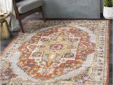 Burnt orange area Rug 8×10 Surya Ankara 8 X 10 Burnt orange Indoor Medallion oriental