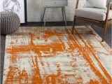 Burnt orange area Rug 8×10 Surya Jax 8 X 10 Burnt orange Indoor Abstract Industrial