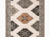 Buy now Pay Later area Rugs Georgia Tribal Tan Black area Rug