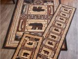Cabin area Rugs for Sale Lodge Rugs Accent Runner area Rug Bear Deer Moose Fish Canoe Cabin Decor