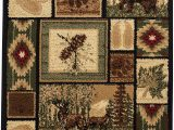 Cabin area Rugs for Sale Rugs 4 Less Collection Rustic Western and Native American Wildlife and Wilderness Cabin Lodge Accent area Rug R4l 386 2×3