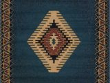 """Cabin area Rugs for Sale south West area Rug Blue Cabin Lodge southwestern Carpet Rustic Look 5 3"""" X 7 6"""""""