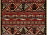 """Cabin Lodge Style area Rugs Dean Lodge King Red Pine Rustic area Rug 5 3"""" X 7 3"""""""