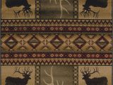 Cabin Lodge Style area Rugs Hunters Dream Deer Antlers southwest Cabin Lodge area Rug