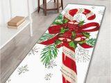 Candy Cane Bath Rug Big Christmas Candy Cane Long Bath Rug White W16 Inch