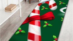 Candy Cane Bath Rug Christmas Candy Cane Long Bath Rug Green W16 Inch L47