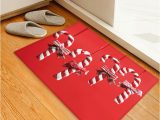 Candy Cane Bath Rug Christmas Candy Cane Pattern Water Absorption Floor Rug