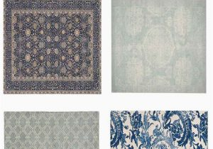 Carina Synthetic Rug Porcelain Blue 10 Trendy Blue Pottery Barn Rugs Sale